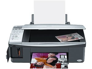 Stylus CX5800F All-In-One Printer, Copier, Scanner, Card Reader, and Fax