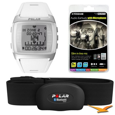 FT60 Heart Rate Monitor - White (90049592) Bundle