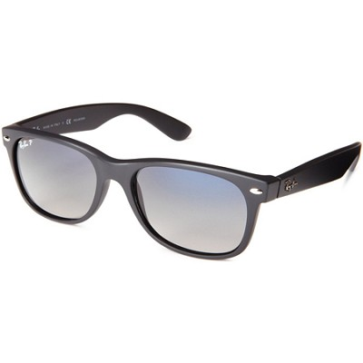 Wayfarer 52MM Polarized Sunglasses - Matte Black/Blue Gradient