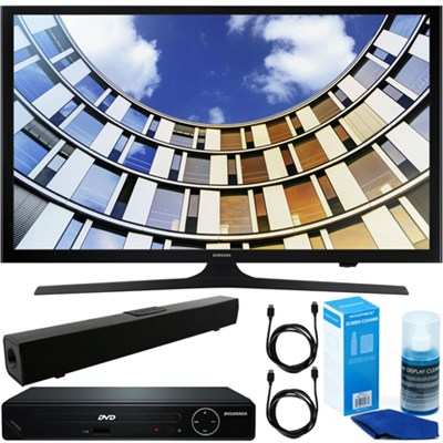 Flat 43` LED HD 5 Series Smart TV + HDMI DVD Player + Bluetooth Sound Bar