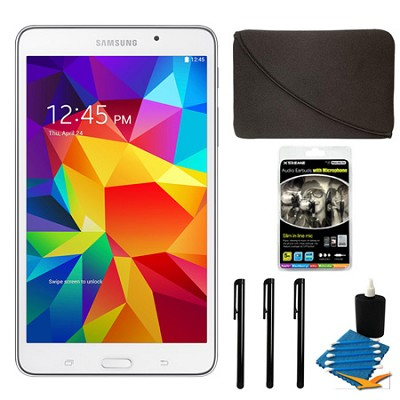 Galaxy Tab 4 White 8GB 7` Tablet and Case Bundle