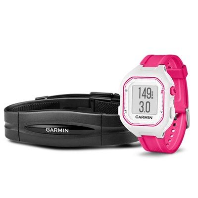 Forerunner 25 GPS Fitness Watch with Heart Rate Monitor - Small - White/Pink