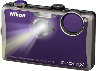 COOLPIX S1100pj Violet 14MP Digital Camera w/ Projector
