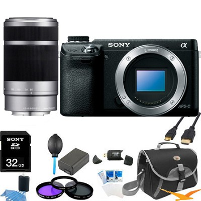 Alpha NEX-6 16.1 MP Digital Camera (Black Body) + SEL 55-210 Ultimate Bundle