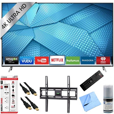 M50-C1 - 50-Inch 120Hz 4K Ultra HD M-Series LED Smart HDTV Mount/Hook-Up Bundle