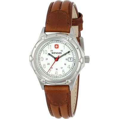 Ladies' Standard Issue Watch - White Dial/Brown Leather Strap