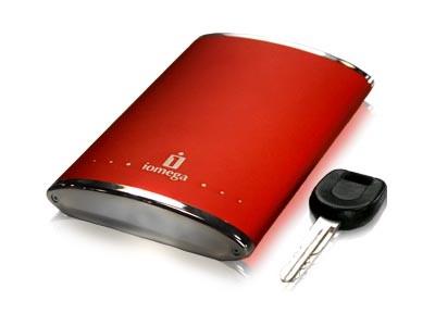 160 GB eGo USB 2.0 Portable Hard Drive (Red)