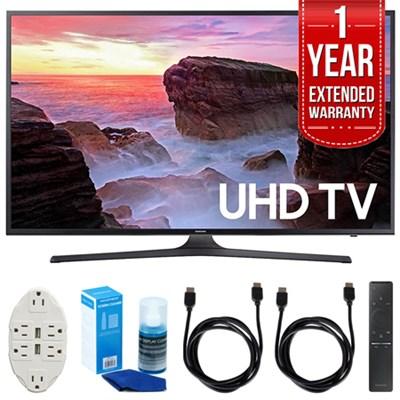 43` 4K Ultra HD Smart LED TV (2017 Model) w/ Extended Warranty Bundle