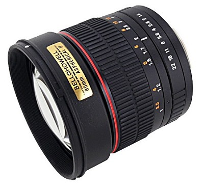 85MAF-N - 85mm f/1.4 Aspherical Lens for Nikon DSLR Cameras w/Automatic  Chip