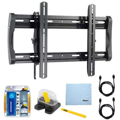 Low Profile Flat Wall Mount for 37`-90` Flat-Panel TVs w/ Accessories Kit
