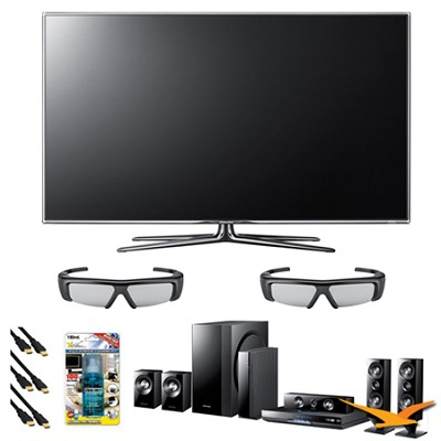 UN55D7000 55 inch 1080p 240hz 3D LED + HTD6500 Home Theater Bundle