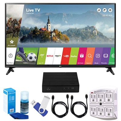 LJ550B Series 32` Smart LED HDTV + Terk HD TV Tuner 16GB Hook-Up Bundle