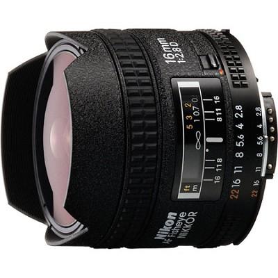 16mm F/2.8D  AF Nikkor Fisheye Lens, With Nikon 5-Year USA Warranty