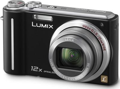 DMC-ZS1K LUMIX 10.1MP Compact Digital Camera w/ 12x Super Zoom-Black-REFURBISHED
