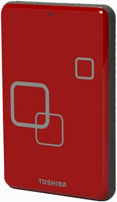 DS TS Canvio HD 640GB USB 2.0 Portable External Hard Drive - Rocket Red
