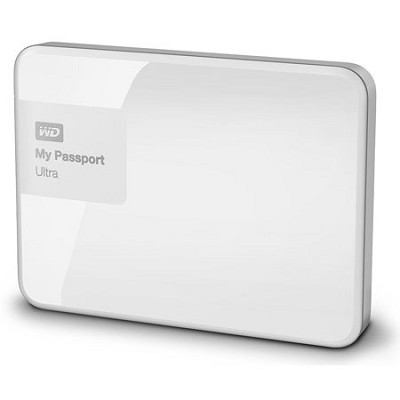 My Passport Ultra 500 GB Portable External Hard Drive, White