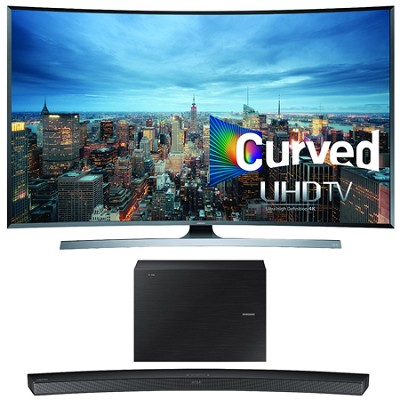 UN78JU7500 - 78-Inch 2160p 3D Curved 4K UHD Smart TV w/ HW-J6500 Soundbar Bundle