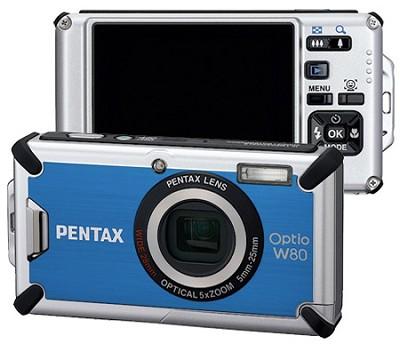 Optio W80 Waterproof Digital Camera (Azure Blue)Outdoor Photo Editor's Choice