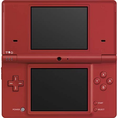 DSi Portable Gaming Console - Matte Red