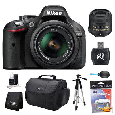 D5200 DX-Format Digital SLR Camera 18-55mm and 40mm Lens Kit