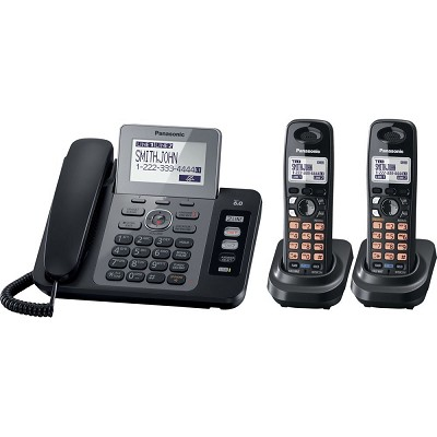 KX-TG9472B DECT 6.0 2-Lines Phone with Digital Answering System and 2 Handsets