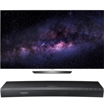 OLED65B6P 65` 4K UHD OLED Smart TV w/ UBD-K8500 3D 4K Ultra HD Blu-ray Player