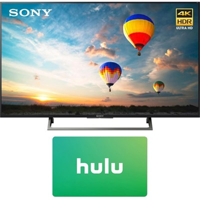 55` 4K HDR UHD Smart LED TV (2017 Model) w/ Hulu $25 Gift Card