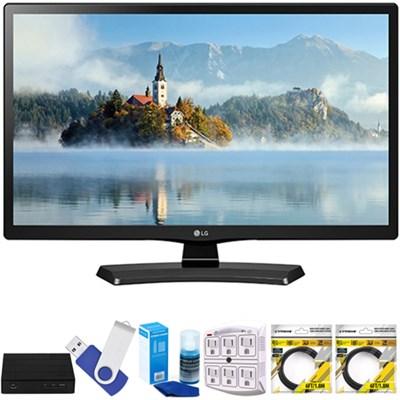 22` Class (21.5` Diag) Full HD 1080p LED TV 2017 Model  w/ Terk Tuner Bundle
