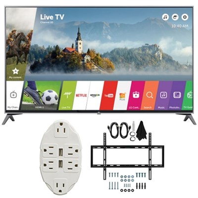 60` Super UHD 4K HDR Smart LED TV 2017 Model 60UJ7700 with Wall Mount Bundle