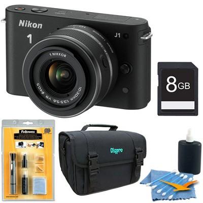1 J1 SLR Black Digital Camera w/ 10-30mm VR Lens Deluxe Edition