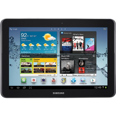 10.1` Galaxy Tab 2 10.1 16GB Slate Tablet - Recertified with 90 Day Warranty