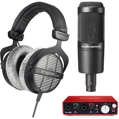 DT-990-Pro-250 Acoustically Open 250Ohm Headphones w/ Mic & USB Audio Interface