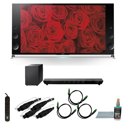 XBR65X900B - 65-inch 120Hz 3D LED X900B Premium 4K Ultra HD TV Bundle