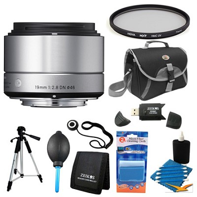 19mm F2.8 EX DN ART Silver Lens for Sony Filter Bundle