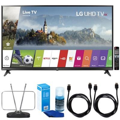 65` Super UHD 4K HDR Smart LED TV (2017 Model) w/ TV Cut The Cord Bundle