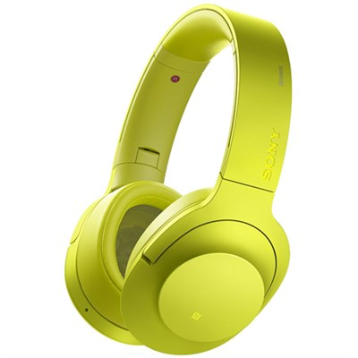 MDR100 h.Ear on NC On-Ear Bluetooth Headphones w/ NFC - Lime Yellow - OPEN BOX