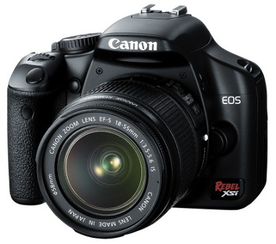 EOS Digital Rebel XSi Black w/ EF-S 18-55mm IS Lens (Black) - OPEN BOX