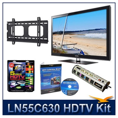 LN55C630 55` HDTV + Flat Mount + Hook-Up + Power Protection + Calibration DVD