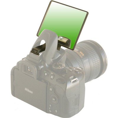 Green Deluxe Flash Bounce Mirror for Pop-up Flash  - (DLUX-MIR-G)