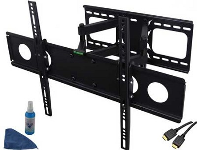 4 piece Dual Arm Heavy Duty Articulating Wall Mount for 32-63 inch HDTV's