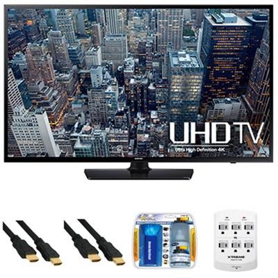 UN40JU6400 - 40-Inch 4K Ultra HD Smart LED HDTV + Hookup Kit