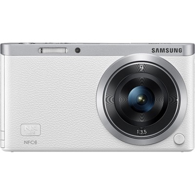NX Mini Mirrorless Digital Camera with 9mm Lens - White - OPEN BOX