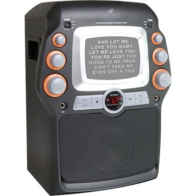 CD+G Karaoke System with 5` Black-and-White Monitor