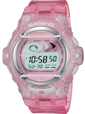BG169-4V - Women's Baby-G Pink Jelly Shock Resistant Sport Watch