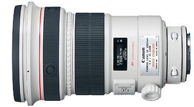 EF 200mm f/2L IS USM EOS Telephoto Lens
