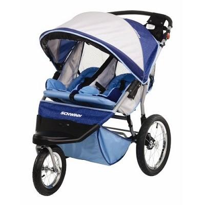 Free Wheeler ST Double Jogging Stroller (Blue Grey)