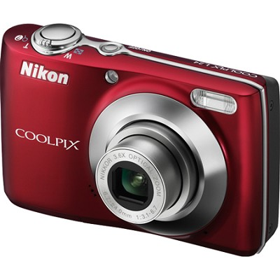 COOLPIX L24 14 MP Digital Camera with 3.6x NIKKOR Red - REFURBISHED