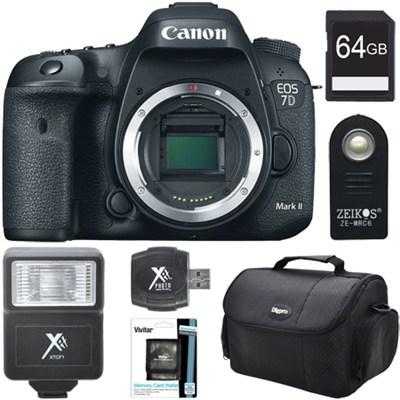 EOS 7D Mark II 20.2MP HD 1080p Digital SLR Camera Body Ultimate 64GB Bundle