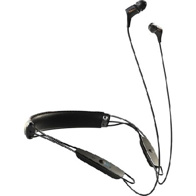 R6 In-Ear Bluetooth Leather Neckband Earphones - Certified Refurbished