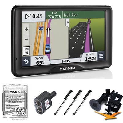 nuvi 2757LM 7` GPS Navigation System with Lifetime Map Updates Ultimate Bundle